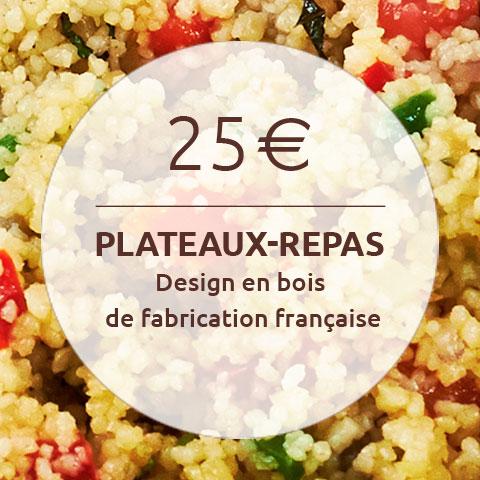 25 euro plateaux-repas design en bois de fabrication française